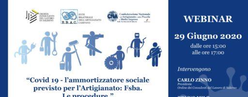 CASSA INTEGRAZIONE NELL'ARTIGIANATO: WEBINAR CNA-EBAC -ORDINE CONSULENTI
